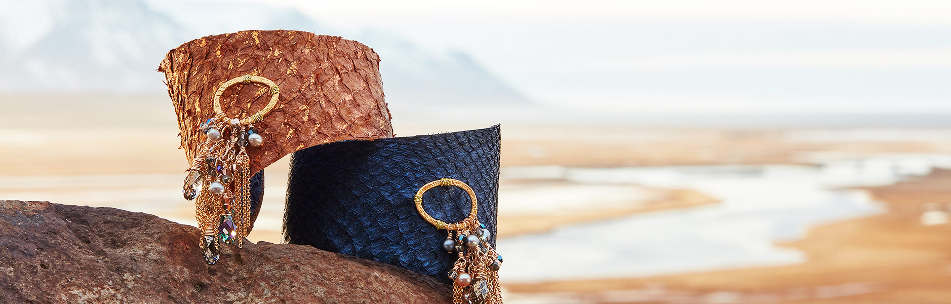 Moonrise Jewelry - Fish Leather Bracelets